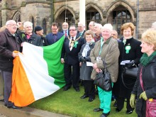 Saint Patrick's Day celebrated with raising of Irish flag
