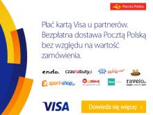 Płatność kartą Visa w internecie nagradzana darmową dostawą kurierem Poczty Polskiej