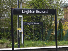Access at Leighton Buzzard Station is on the up