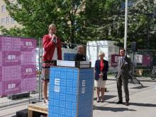 KTH:s prorektor Eva Malmström Jonsson hälsar välkommen till KTH Campus
