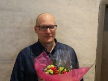 Kalmar och Växjös stora Linnéstipendium för forskning inom ekologisk hållbar utveckling till Petter Tibblin