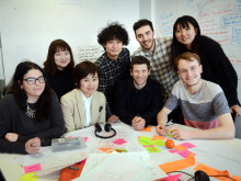Tsukuba students with Northumbria staff and students