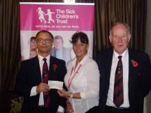 Allerton Lodge make £1,000 donation to Leeds children's charity