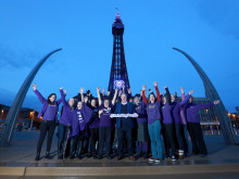 Les Dennis and Blackpool Tower help to Make May Purple for stroke
