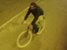 CCTV still of cyclist