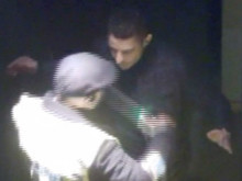 Image of suspect dressed in dark clothes