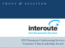 Frost & Sullivans Customer Value Leadership Award til Interoute