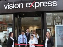 Hitchin eye cancer youngster opens new Vision Express store