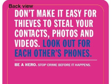 'Be Safe' crime prevention campaign