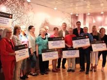 Sparbanken Nord i Piteå delade ut 90 000 kronor