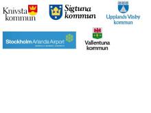 Loggor för deltagande organisationer i Arlandasamarbetet