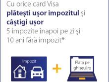 Visa Europe: Taxele şi impozitele locale plătite de români cu cardul pe internet au depășit pragul de 10 milioane de lei în primele două luni din 2015