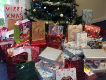 Some presents delivered, ready for Christmas
