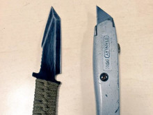 The knives recovered from the suspect
