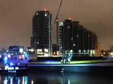 Marine Policing Unit at the scene with the Polla Rose