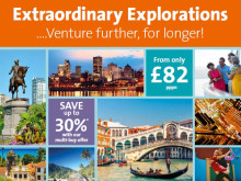Venture further, for longer with Fred. Olsen Cruise Lines 'Extraordinary Explorations'