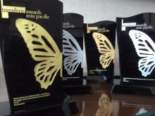 Bluewater win one gold, two silver and a bronze at the Transform Awards Asia-Pacific 2014.