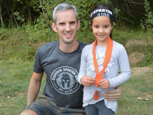 Loving dad tackles 5k obstacle course for children's charity