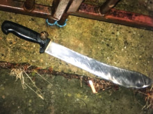 Recovered machete