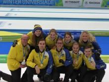 Svenskt curlingguld i Universiaden - studentidrottens motsvarighet till OS