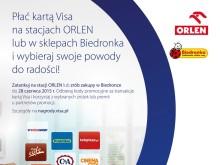Największa dotychczas promocja płatności bezgotówkowych Visa w Polsce we współpracy z Biedronką, Orlenem i innymi czołowymi detalistami