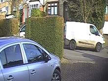 Image of stolen white Ford Transit