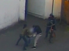 CCTV still of the robbery