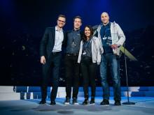 Prisregn over Löfbergs på Nordic Choice Hotels vinterkonferanse