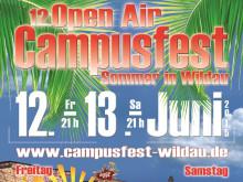 """12. Campusfest """"Sommer in Wildau"""" am 12. und 13. Juni 2015 an der Technischen Hochschule Wildau / Traditionelle große Open Air Party zum Ende des Akademischen Jahres"""