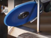 Norton Vortex Rapid Blend –hiomapyörö poistaa hitsit ja viimeistelee pinnan samanaikaisesti