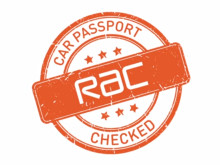 RAC Car Passport logo on white background