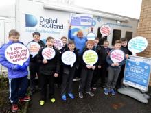 Shotts pupils get a lesson with fibre broadband