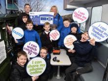 Greenock pupils get a lesson with fibre broadband