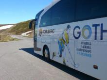 VM-bussen tar publiken över dagen till VM i innebandy i Göteborg