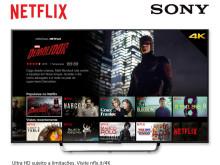 Os dispositivos Sony estão preparados para a chegada do Netflix a Portugal