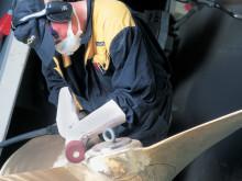 Slitsade lamellslipstift ger följsammare slipning