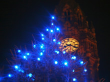 Christmas Lights Outside Rochdale Town Hall