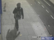 Suspect with distinctive rucksack