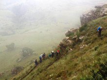 Walking in the Drakensberg Mountains part 2: The hike to Baboon Rock - Laurence Mitchell
