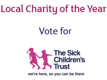 Vote for us at your Sainsbury's Local for Charity of the Year!