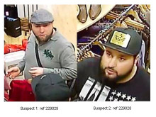 CCTV appeal after two men use boy to steal from charity shop