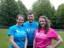 Three Musketeers take on 20 mile trek in memory of baby Charlie