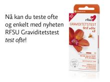Nå kan du teste ofte og enkelt med nyheten RFSU Graviditetstest test ofte!