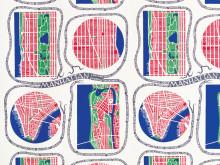 Textile print Manhattan by Josef Frank