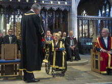 Cathedral welcome for Northumbria's new Chancellor