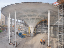 ZÜBLIN realising for Deutsche Bahn a reinforced concrete roof that is a work of art