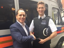 James Freedman and Westminster Borough Commander Peter Ayling