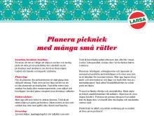 Planera picknick med många små rätter
