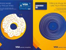 Dwie strony karty Visa: kampania promująca płatności w internecie