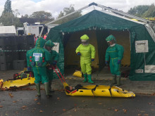 Emergency services exercise tackling chemical attacks at iconic London venues